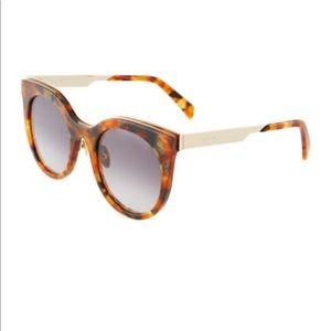 Balmain Sunglasses Plastic Gradient Tortoiseshell